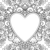 Decorative love frame with hearts Stock Photography