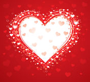 Decorative love heart Stock Image