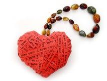 Decorative love heart jewelery Stock Photography
