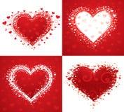 Decorative love hearts Stock Image