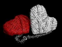 Decorative love hearts Stock Photos