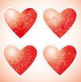Decorative love hearts Royalty Free Stock Photo