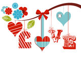 Decorative love word Stock Images