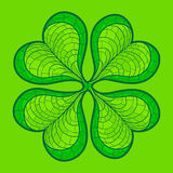 Decorative lucky clover leaf Royalty Free Stock Photo