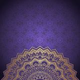Decorative mandala background. Elegant background with a decorative mandala design Royalty Free Stock Photography