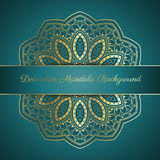 Decorative mandala background stock illustration