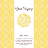 Decorative mandala on background. Vector ornate decor with place for your text.  Stock Photo