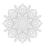 Decorative mandala illustration Stock Photography