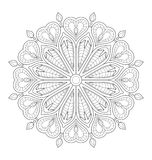 Decorative mandala illustration Stock Images