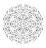 Decorative mandala illustration Royalty Free Stock Images