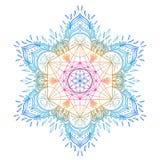 Decorative mandala round pattern with sacred geometry element Me Stock Image