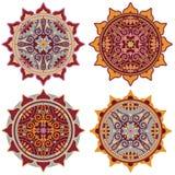 Decorative mandala set Royalty Free Stock Photo