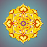 Decorative mandala shape Stock Images