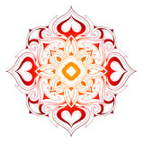 Decorative mandala shape Royalty Free Stock Photos