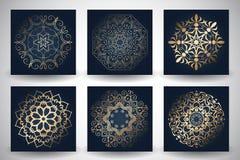 Decorative mandala style backgrounds Stock Photos