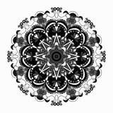 Decorative mandala traditional esoteric symbol  on white background Stock Photo
