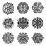 Decorative Mandalas Set Stock Photography