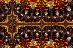 Decorative Mandelbrot Pattern stock illustration