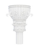 Decorative marble column  on white background. 3d render Stock Image