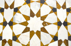 Decorative marble floor background in asian temple,India Royalty Free Stock Photos