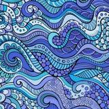 Decorative marine sealife ethnic background Royalty Free Stock Photography