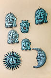 Decorative masks in Greece Royalty Free Stock Photography