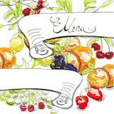 Decorative menu Stock Images