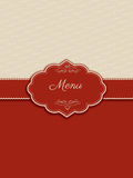 Decorative menu design Stock Images