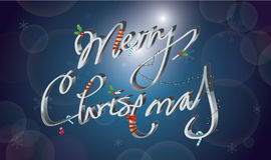 Decorative Merry Christmas Royalty Free Stock Photo