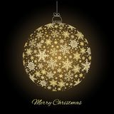 Decorative Merry Christmas greeting card Royalty Free Stock Images