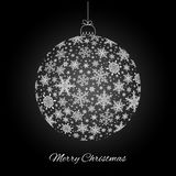Decorative Merry Christmas greeting card Royalty Free Stock Photography