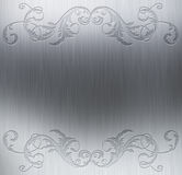 Decorative metal background Royalty Free Stock Images