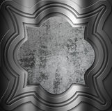 Decorative metal background with grunge centre Stock Photography