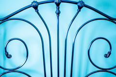 Decorative metal bedstead Royalty Free Stock Images