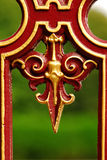 Decorative metal fence Royalty Free Stock Photography