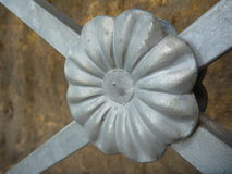 Decorative metal flower detail on a railing Stock Photography