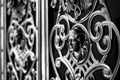 Decorative metal gate Stock Images