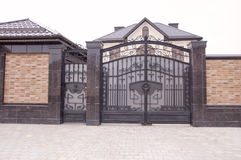 Decorative Metal Gates Stock Photography