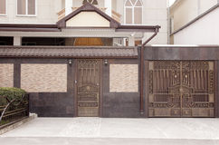 Decorative metal gates. Beautiful modern decorative metal gates Stock Image