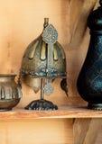 Decorative metal Helmets Of Warriors Of Turkish Ottoman Time. Decorative metal Helmets Of Warriors Of Turkish Ottoman empire stock images