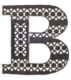Decorative Metal Letter B Stock Photos
