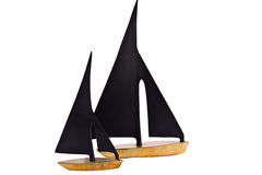 Decorative metal made boats for interior decoratio Stock Images