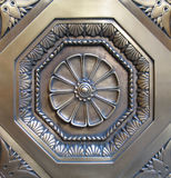 Decorative metal medallion. From Manhattan doorway Stock Images