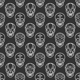 Decorative mexican skulls seamless pattern Royalty Free Stock Images