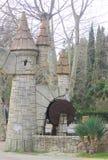 Decorative miniature of watermill in Sochi Stock Image
