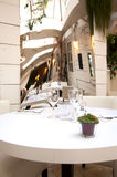 Decorative mirror in restaurant Royalty Free Stock Photography