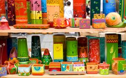 Decorative and modern pottery Royalty Free Stock Image