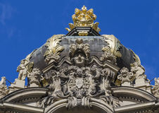 Decorative moldings at the top of the gate Zwinger Royalty Free Stock Image