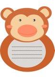 Decorative monkey letter stationery Stock Photography