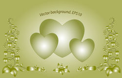 Decorative monochrome floral hearts. EPS10 vector Royalty Free Stock Images